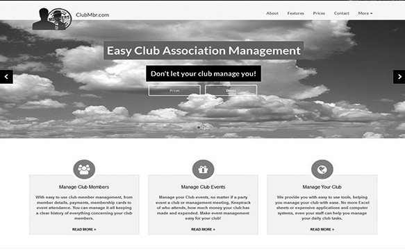 Club Management Website
