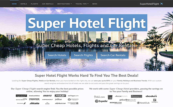 SuperHotelFlight Website